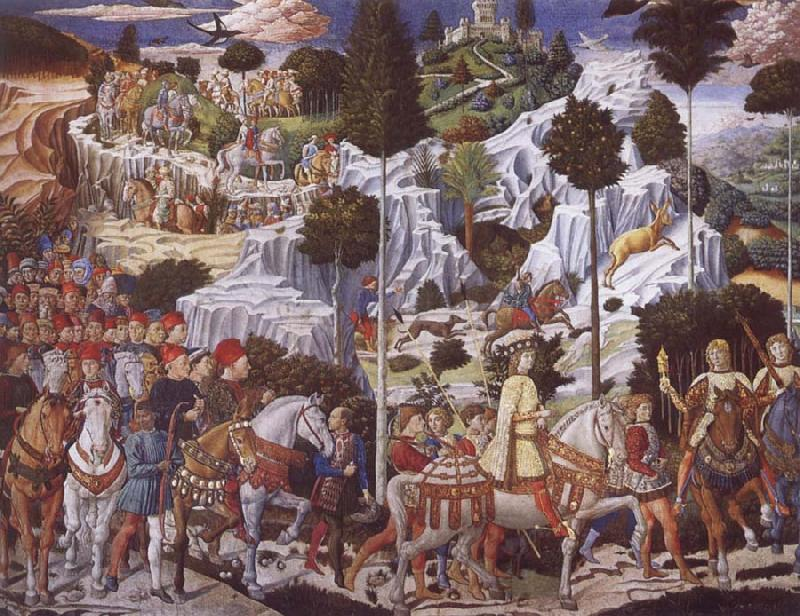 Benozzo Gozzoli The Procession of the Magi,Procession of the Youngest King