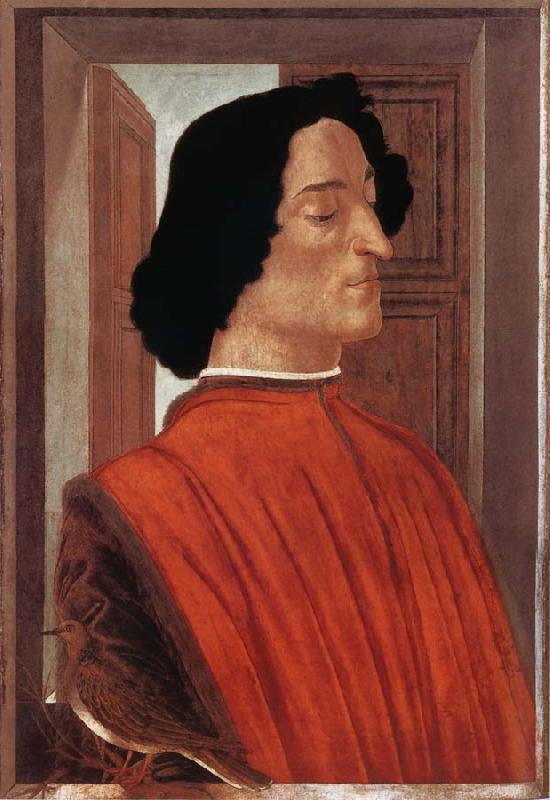 Sandro Botticelli Portrat of Giuliano de-Medici