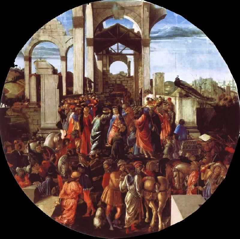 Sandro Botticelli The adoration of the Konige