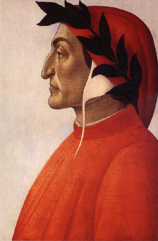 Sandro Botticelli Portrat of Dante