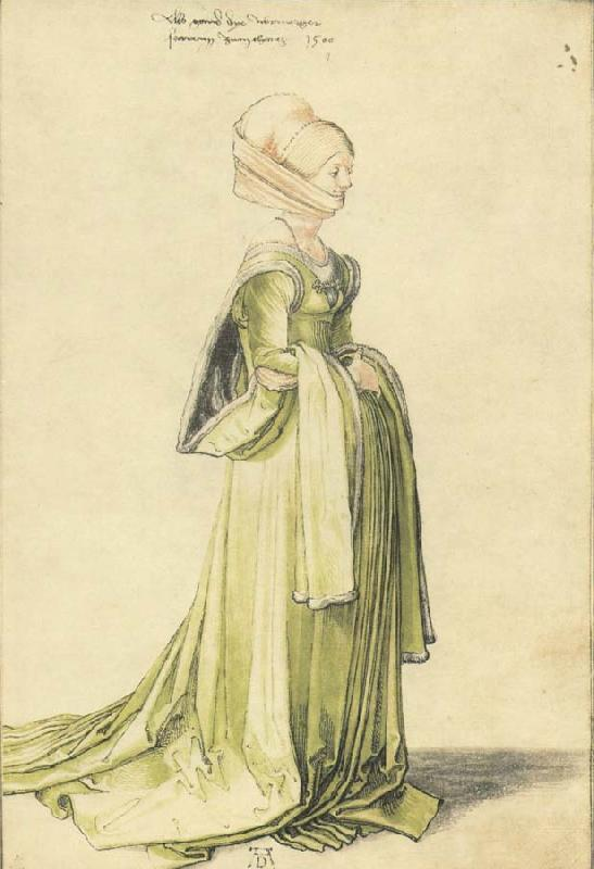 Albrecht Durer A Nuremberg Lady Dressed to go to a Dance