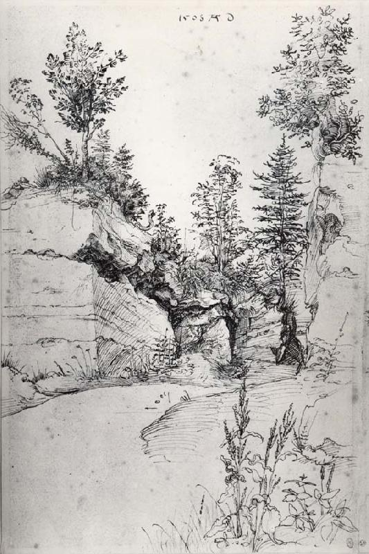 Albrecht Durer Exit from a Quarry