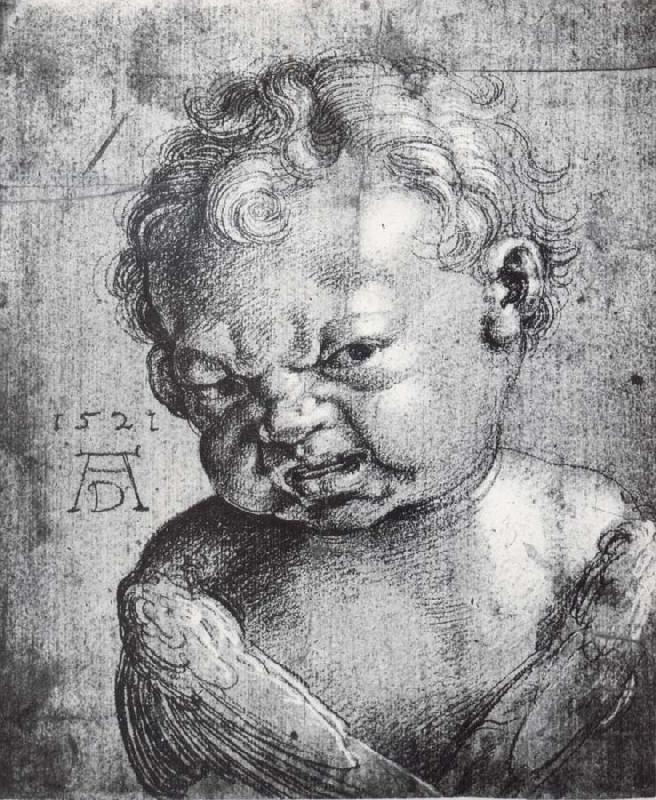 Albrecht Durer Head of a Weeping cherub
