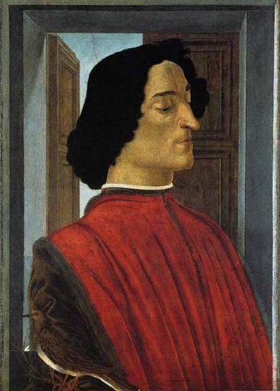 BOTTICELLI, Sandro Portrait of Giuliano de Medici