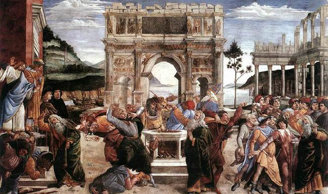 BOTTICELLI, Sandro The Punishment of Korah