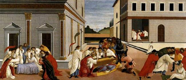 BOTTICELLI, Sandro Three Miracles of St Zenobius