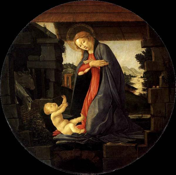 BOTTICELLI, Sandro The Virgin Adoring the Child