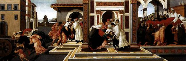 BOTTICELLI, Sandro Last Miracle and the Death of St Zenobius