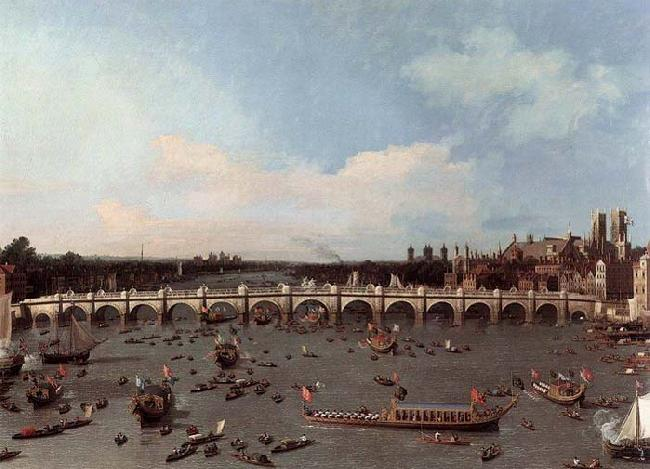 Canaletto Westminster Bridge from the North on Lord Mayor-s Day