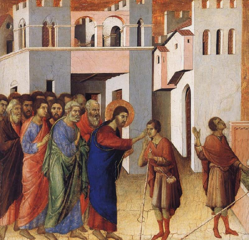 Duccio Jesus Opens the Eyes of a Man Born Blind