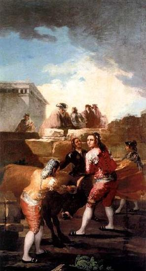 Francisco de goya y Lucientes Fight with a Young Bull
