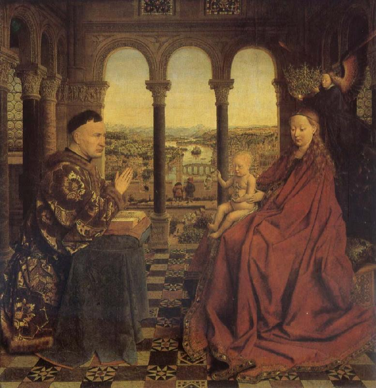 Jan Van Eyck Madonna of chancellor Rolin