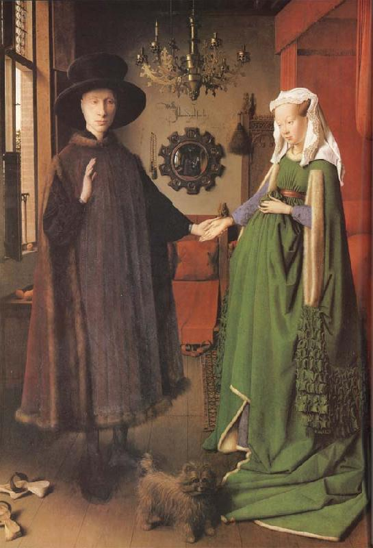 Jan Van Eyck Giovanni Arnolfini and his Bride