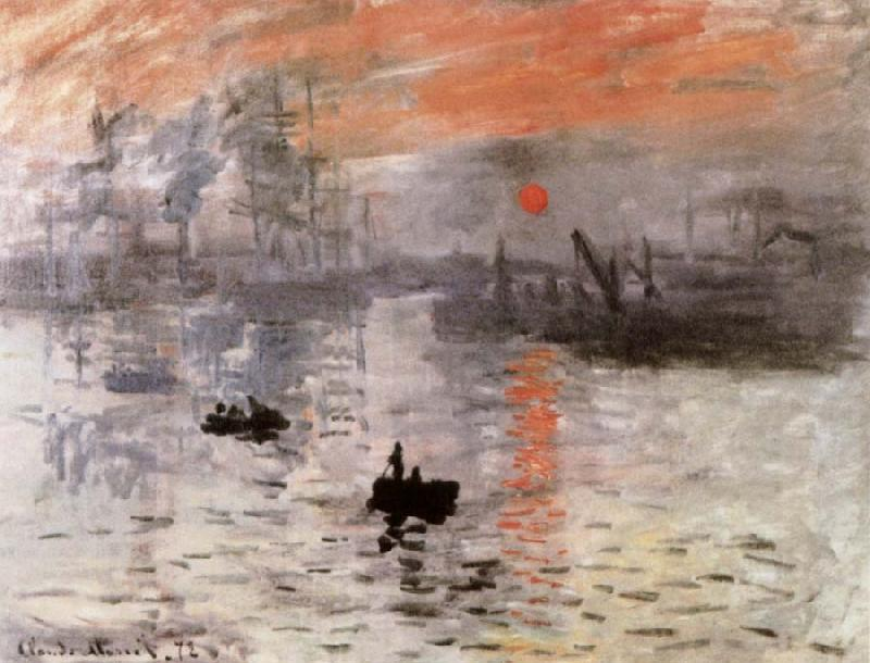 Claude Monet Impresstion Sunrise