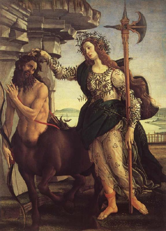 Sandro Botticelli Minerva and the Kentaur