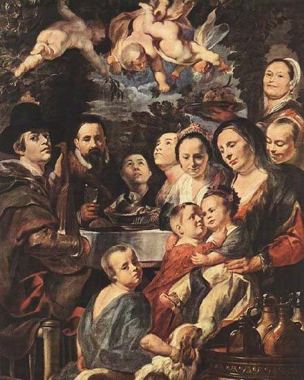 Jacob Jordaens Self-portrait among Parents, Brothers and Sisters