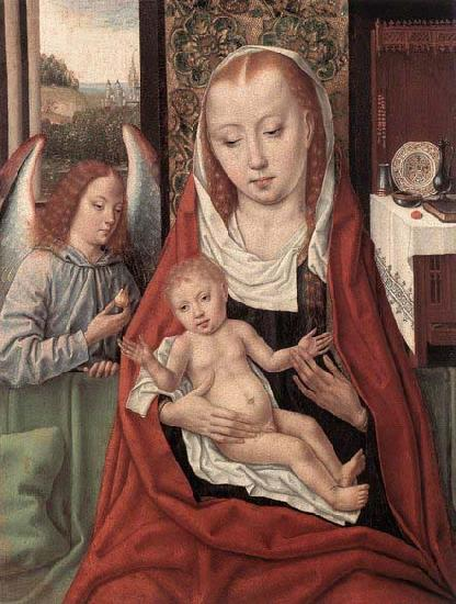 Master of the Saint Ursula Legend Virgin and Child with an Angel