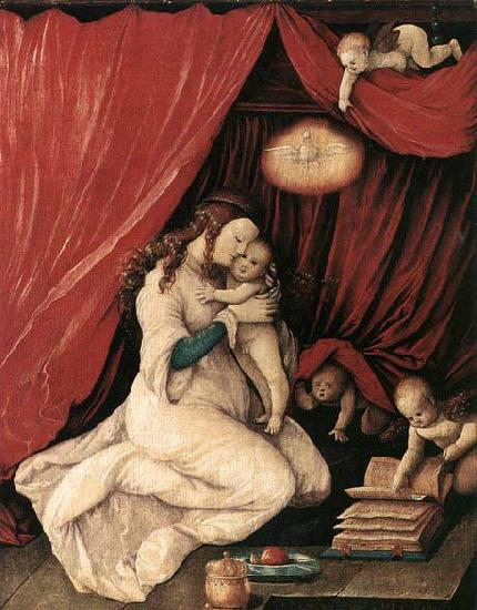 BALDUNG GRIEN, Hans Virgin and Child in a Room