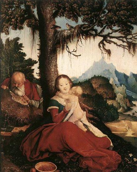 BALDUNG GRIEN, Hans Rest on the Flight to Egypt