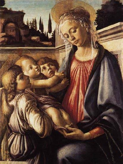 Sandro Botticelli Madonna and Child and Two Angels