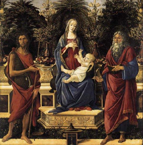 Sandro Botticelli The Virgin and Child Enthroned