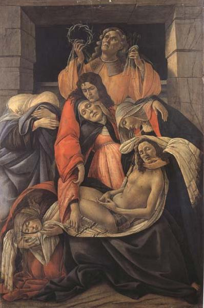 Sandro Botticelli Lament for Christ Dead