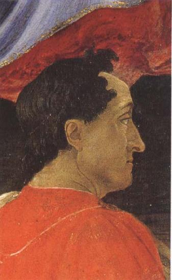 Sandro Botticelli Mago wearing a red mantle