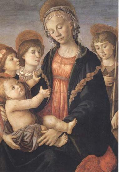 Sandro Botticelli Madonna and Child with St John and two Saints