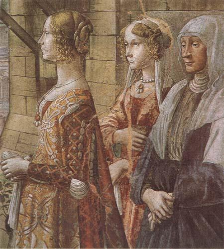 Sandro Botticelli Domenico Ghirlandaio stories of St john the Baptist the Visitation