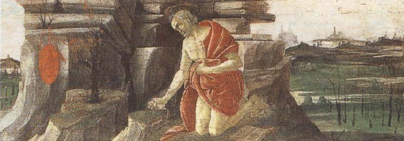Sandro Botticelli St Jerome in Penitence