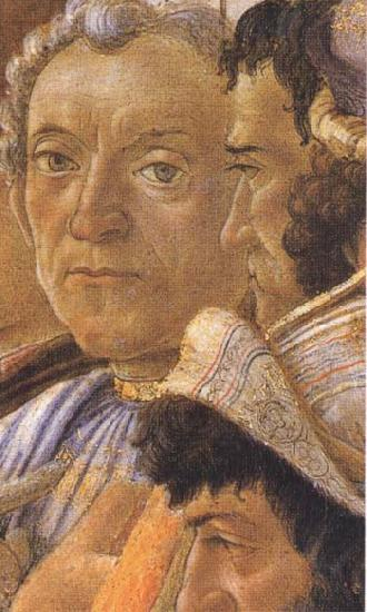 Sandro Botticelli White-haired man in group at right