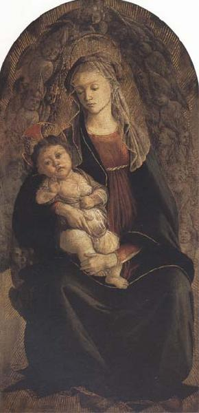 Sandro Botticelli Madonna and Child in Glory with Cherubim
