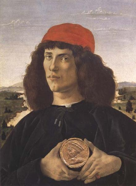 Sandro Botticelli Portrait of a Youth with a Medal
