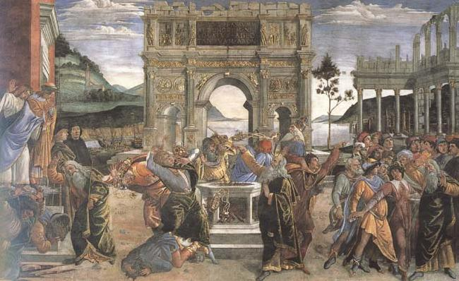 Sandro Botticelli Punishment of the Rebels
