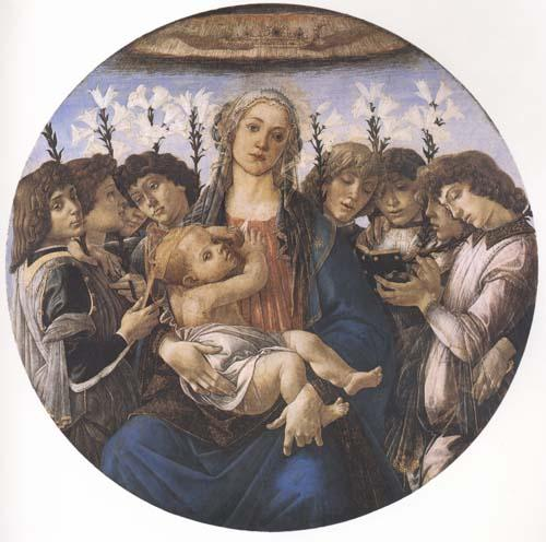 Sandro Botticelli Madonna and child with eight Angels or Raczinskj Tondo