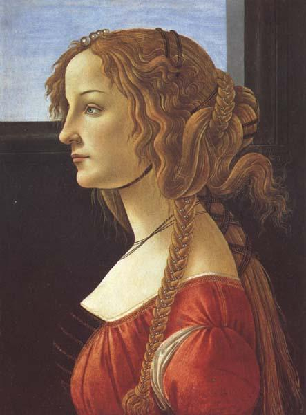 Sandro Botticelli Porfile of a Young Woman (mk45)