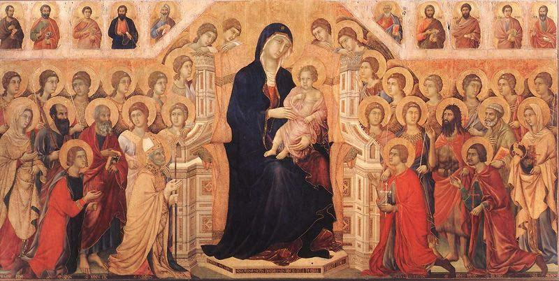 Duccio Maesta with Twenty Angels and Nineteen Saints.