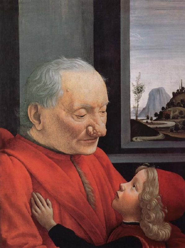 GHIRLANDAIO, Domenico An old man with a boy's portrait