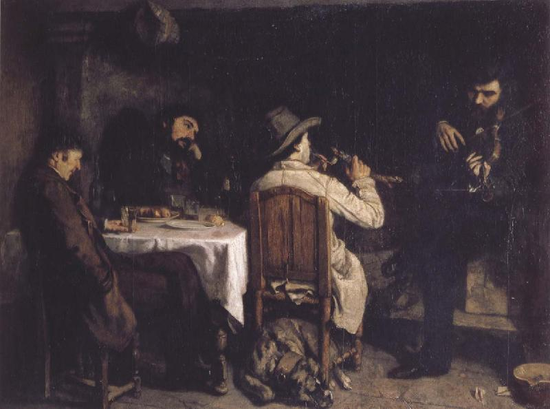 Gustave Courbet After Dinner at Ornans