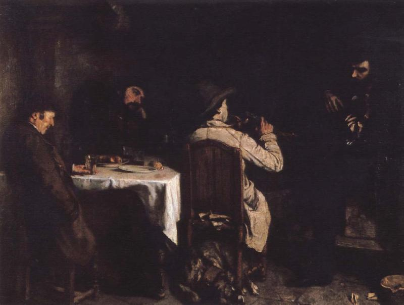 Gustave Courbet After the supper