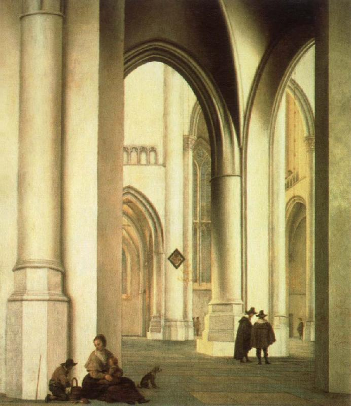 Pieter Jansz Saenredam interior of the st.bavo church,haarlem