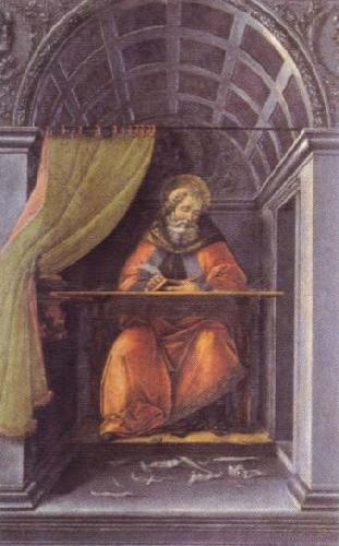 Sandro Botticelli st.augustine in the cell