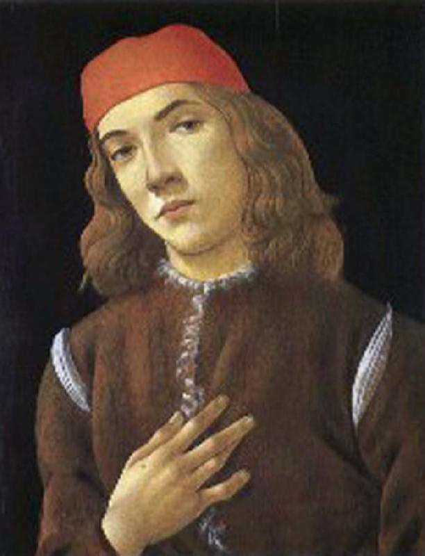 Sandro Botticelli Portrait of youth