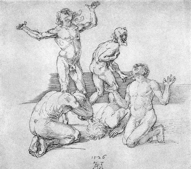 Albrecht Durer Five Male Nudes