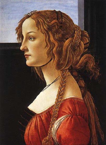 BOTTICELLI, Sandro Portrait of a Young Woman after