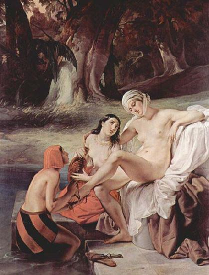 Francesco Hayez Bathsheba Bathing