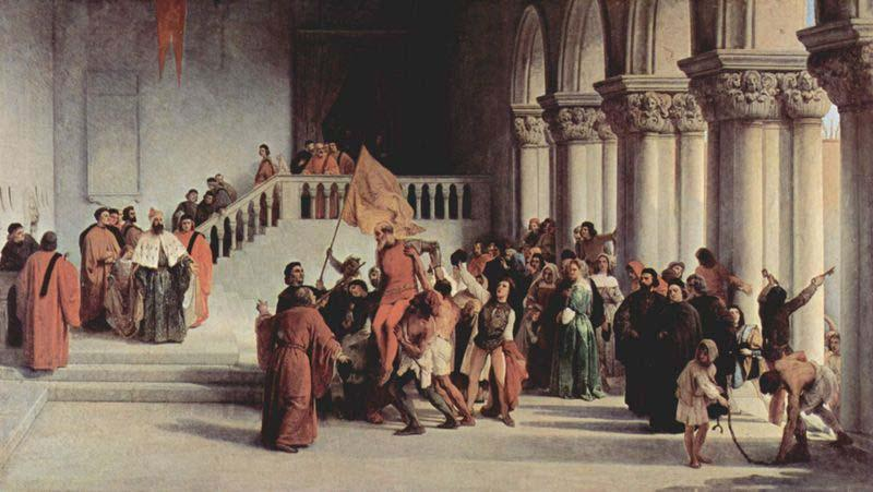 Francesco Hayez Release of Vittor Pisani from the dungeon