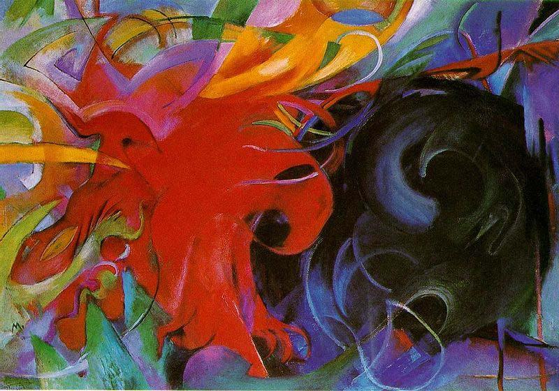 Franz Marc Fighting Forms, 1914