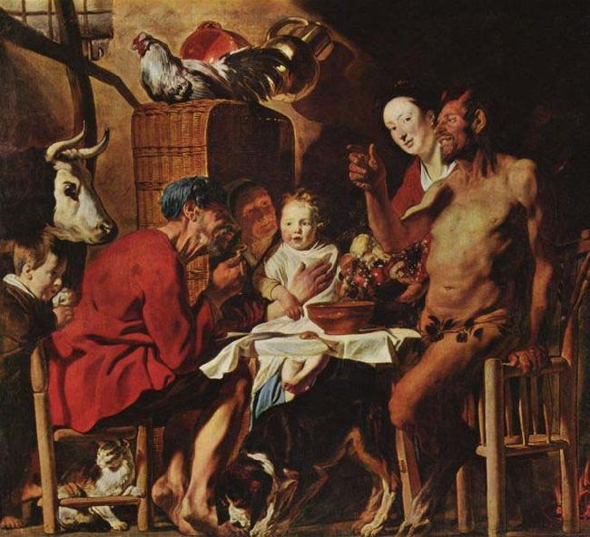 Jacob Jordaens The Satyr and the Peasant