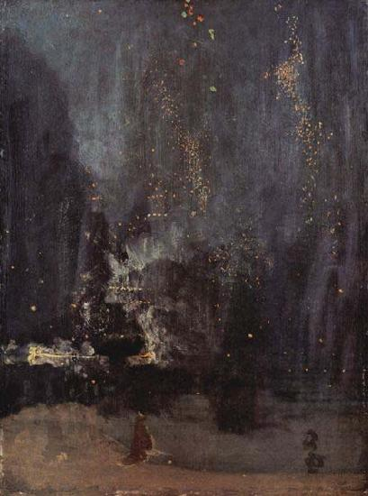 James Abbott Mcneill Whistler Nocturne in Black and Gold